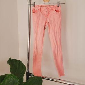 Gap kids super skinny pink jeggings sz 7